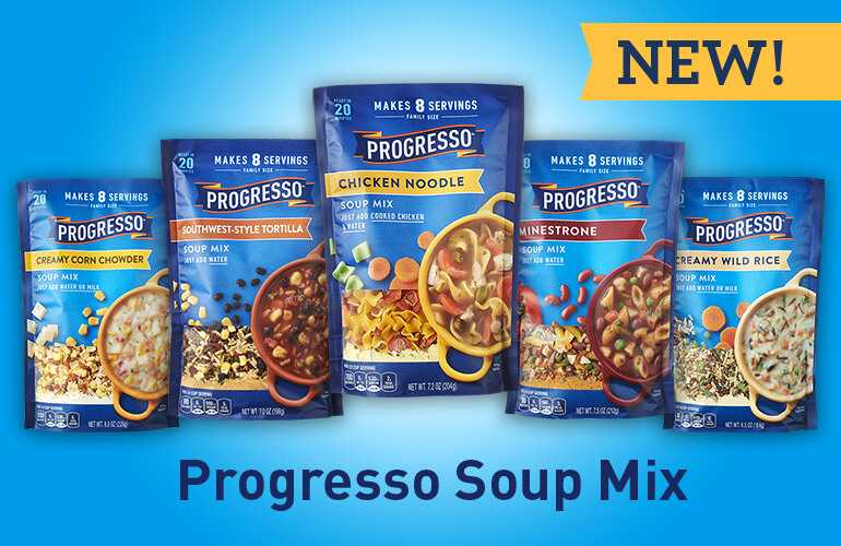 Progresso Soup Mix Line Up of all five flavors